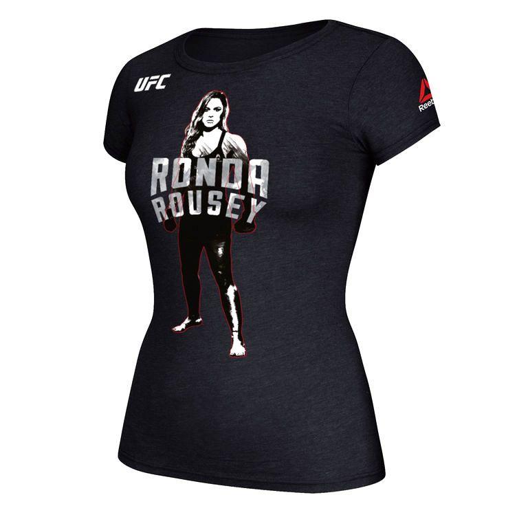 Ronda Rousey Reebok Women's Full Stance Photo T-Shirt - Black - $23.99