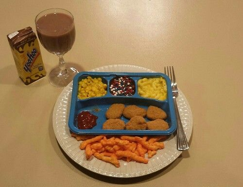 Dinner for one in college.