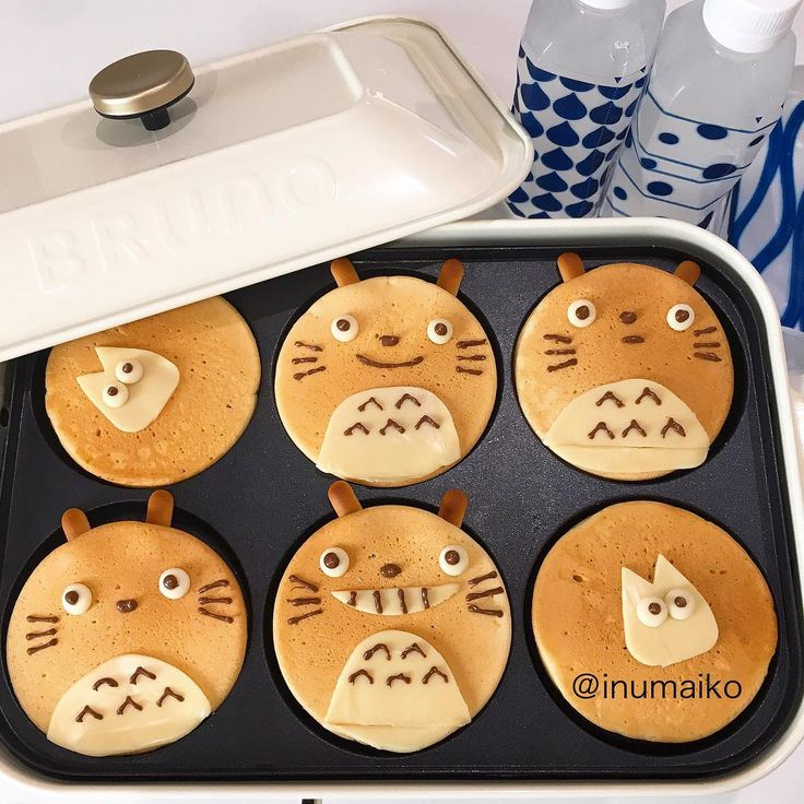 Totoro pancakes by maiko (@inumaiko)