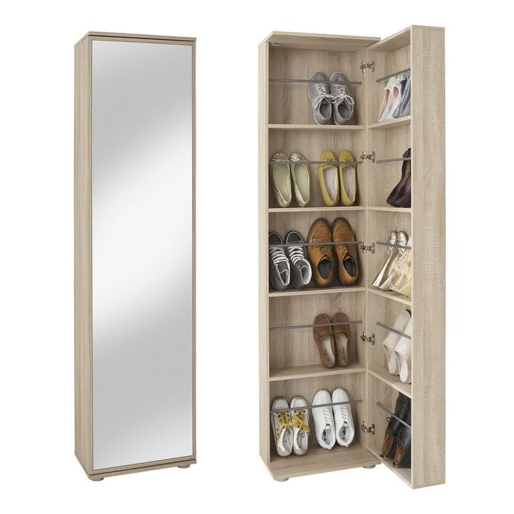 Argos Tall Pine Shoe Cabinet with Mirror Door - Storage Ideas
