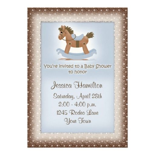 431 best horse baby shower invitations images on pinterest horse rocking horse baby shower invitation filmwisefo Gallery