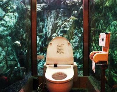 Aquarium toilet at moomin papa caf akashi japan travel japan pinter - Toilette original deco ...