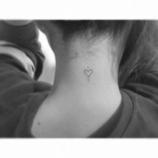 Hartje achter op je nek - 24 x de leukste hartjes tattoos - Nieuws - Lifestyle