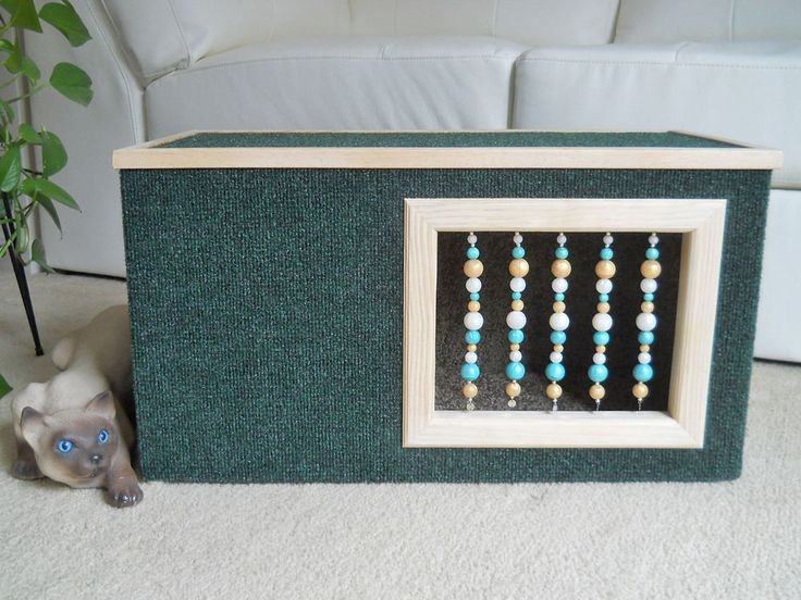Beaded Cat House. Carefully handcrafted with new quality materials and built to last for years.   http://www.ebay.com/itm/281660995954?ssPageName=STRK:MESELX:IT&_trksid=p3984.m1558.l2649