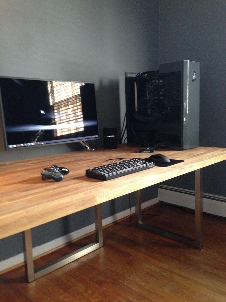 best 25 gaming desk ideas on pinterest x1s gaming desk gaming computer setup and gaming. Black Bedroom Furniture Sets. Home Design Ideas