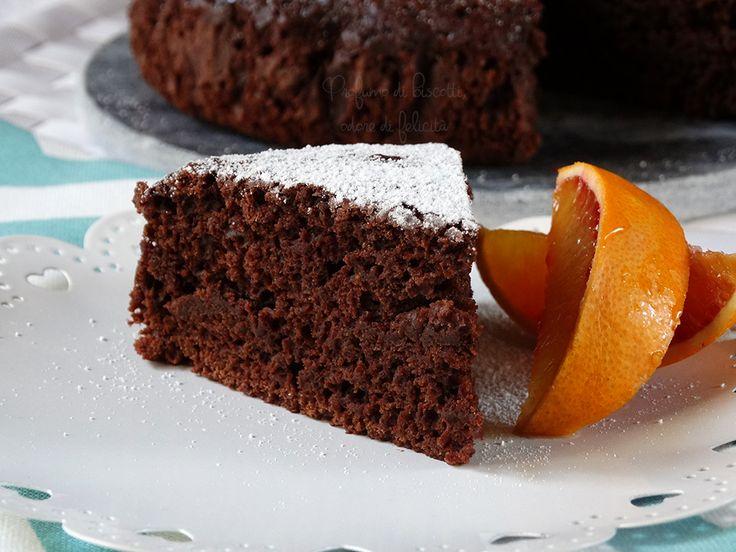 Torta cioccolato e arancia - senza burro e uova