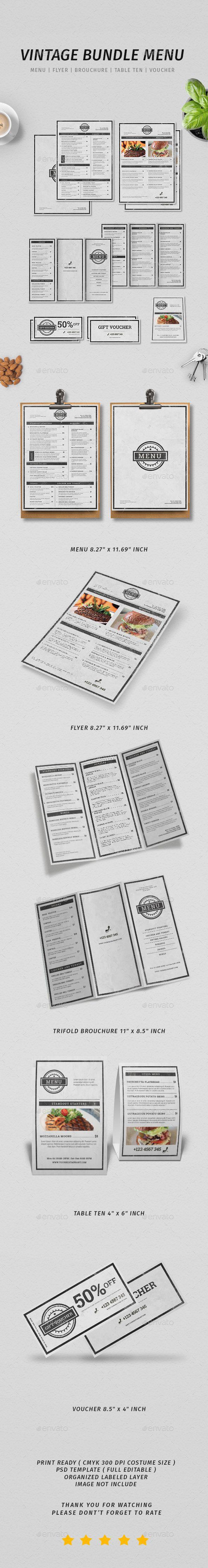 White apron menu warrington - Vintage Menu Bundle