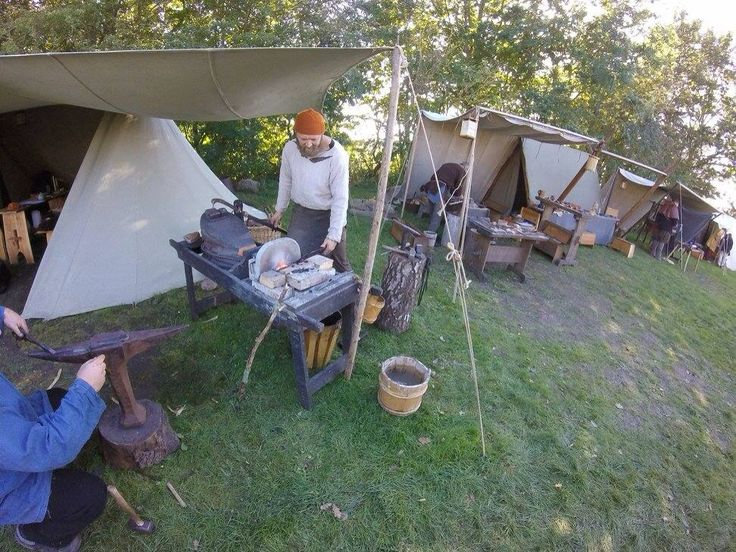 viking black smith meet at Trelleborg Denmark