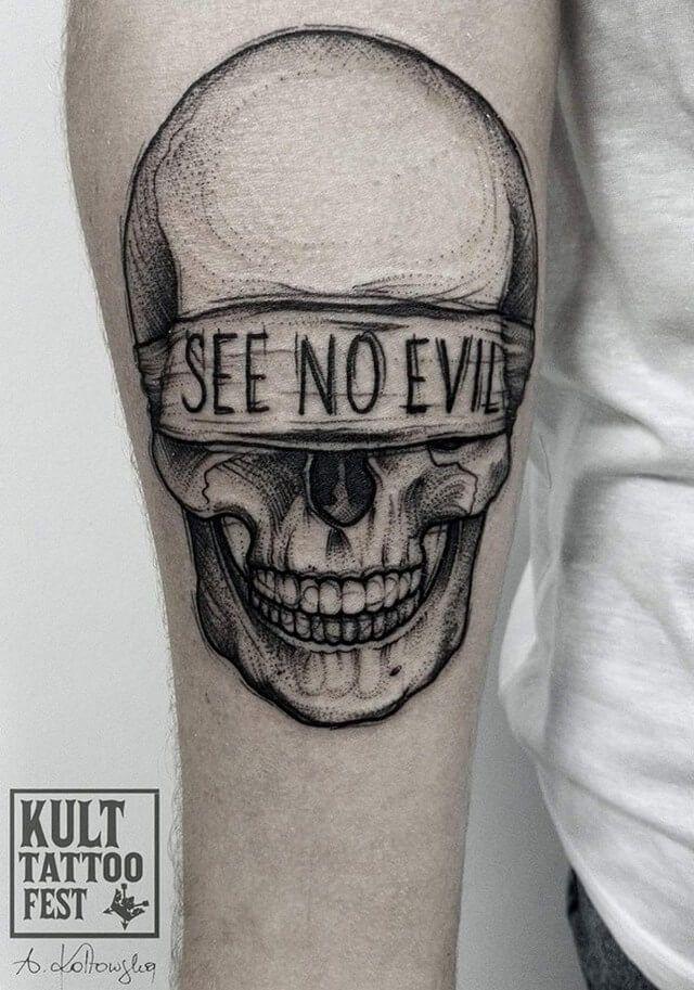 60+ Black and Grey Skull Tattoos