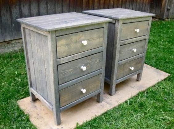 """hand made custom end/side table. This dresser is 28"""" tall, 21"""" wide and 18"""" deep. Painting/staining is available. i do a wide array of custom/handmade wood projects modeled after ideas from Pinterest and Etsy. Feel free to text, email or call me at 910.381.8551 thanks for looking, Daniel."""