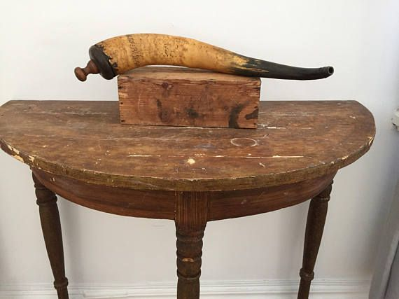 Antique/gun/powder/gunpowder horn/gunpowder/horn/Sweden