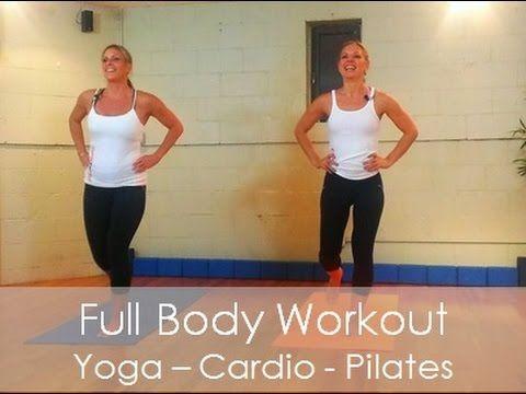 45 Min Full Workout Video - Fusion:Pilates, Cardio, Yoga, Kicknoxing - YouTube