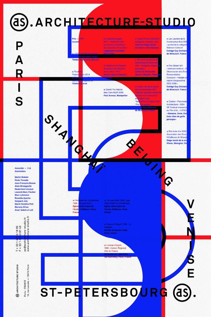 Poster design grid - As Architecture Studio Les Graphiquants 2014