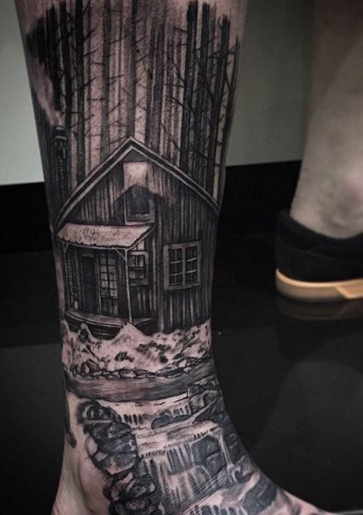 Log House Tattoo