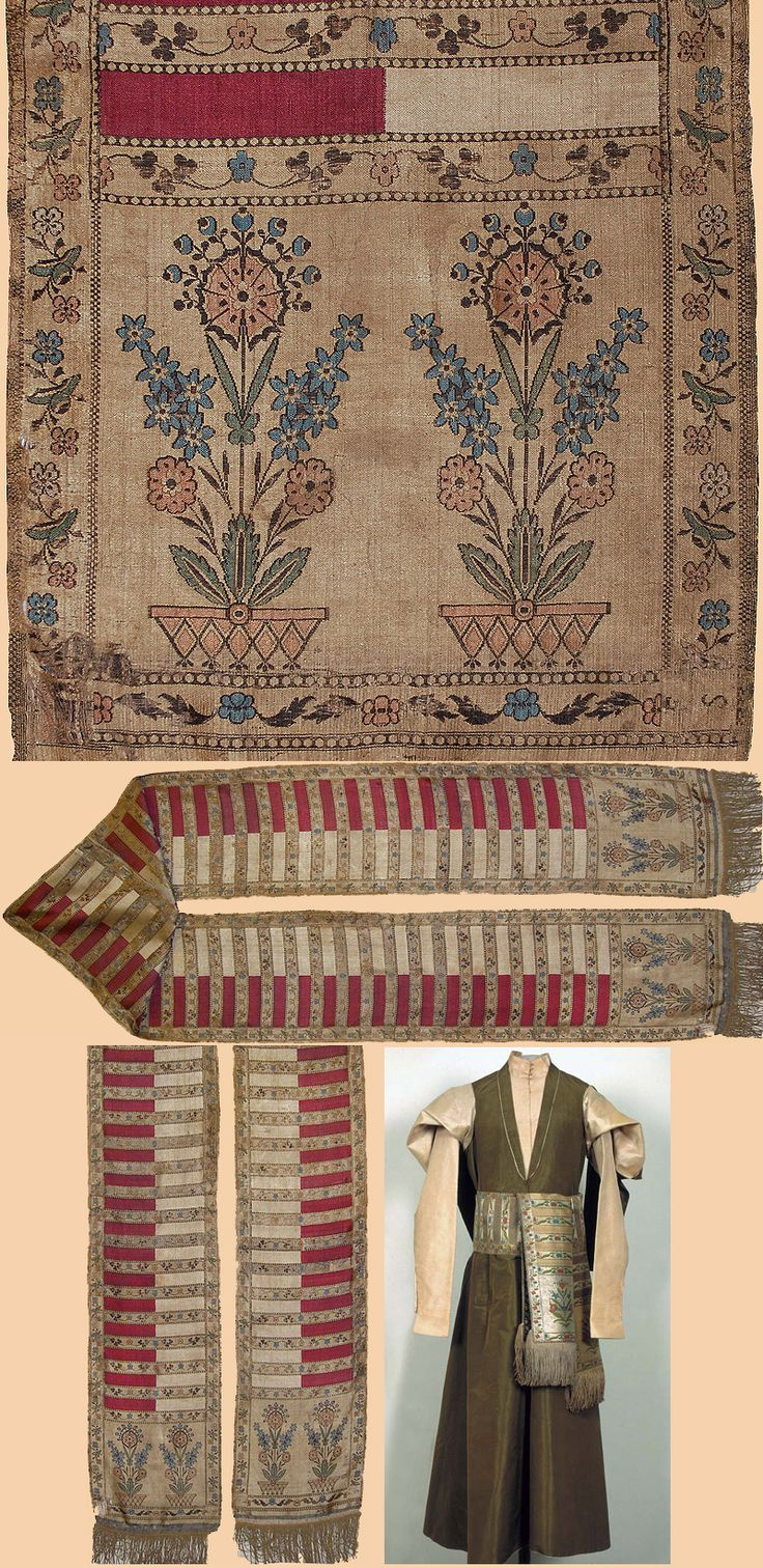 Polish Silk Sash Early 17th Century