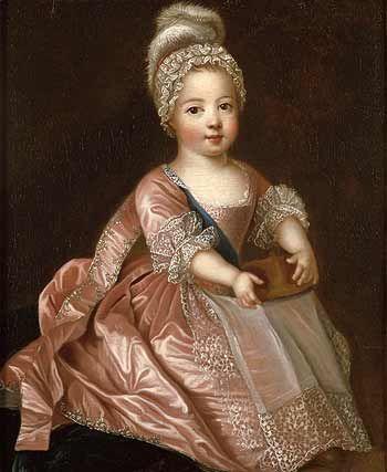 Portrait of Louis XV de France enfant - by Pierre Gobert 1712