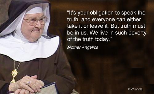 Heilige Moeder Angelica.