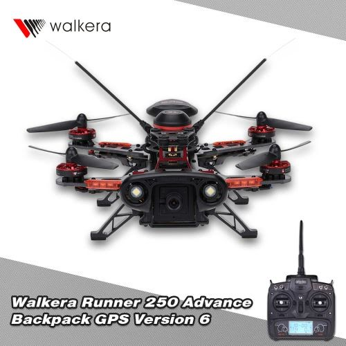 Original Walkera Runner 250 Advance GPS Backpack Version 6 RTF Drone with DEVO 7 and 800TVL Camera/OSD/GPS RC Quadcopter