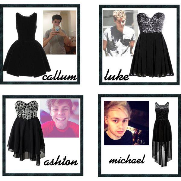 the black dress he buys you (5sos preference) I like the Luke one??