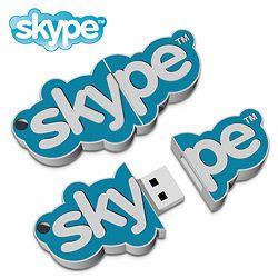 Pen Drive Completamente Personalizzata 2D raffigurante Skype.  Per informazioni: http://bestpromotion.it/index.php/hi-tech-personalizzati-pubblicitari/disegna-pen-drive.html