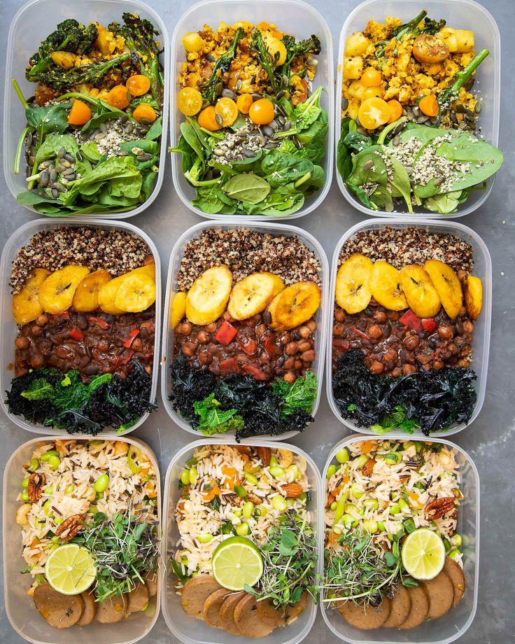 Proteinverpackte vegane Mahlzeitzubereitung! Rezepte: Tofu-Rührei, Nuss-Reis-Salat, B …