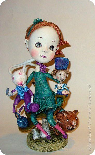 Куклы 1 апреля Папье-маше Алиса и другие Бумага фото 1