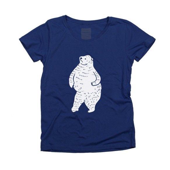 【踊るしろくま レディース 動物(アニマル) TシャツTcollector】「踊るしろくま」ちゃんのTシャツ こんばんは。動物シリーズに新しい仲間が加わりまし...|ハンドメイド、手作り、手仕事品の通販・販売・購入ならCreema。