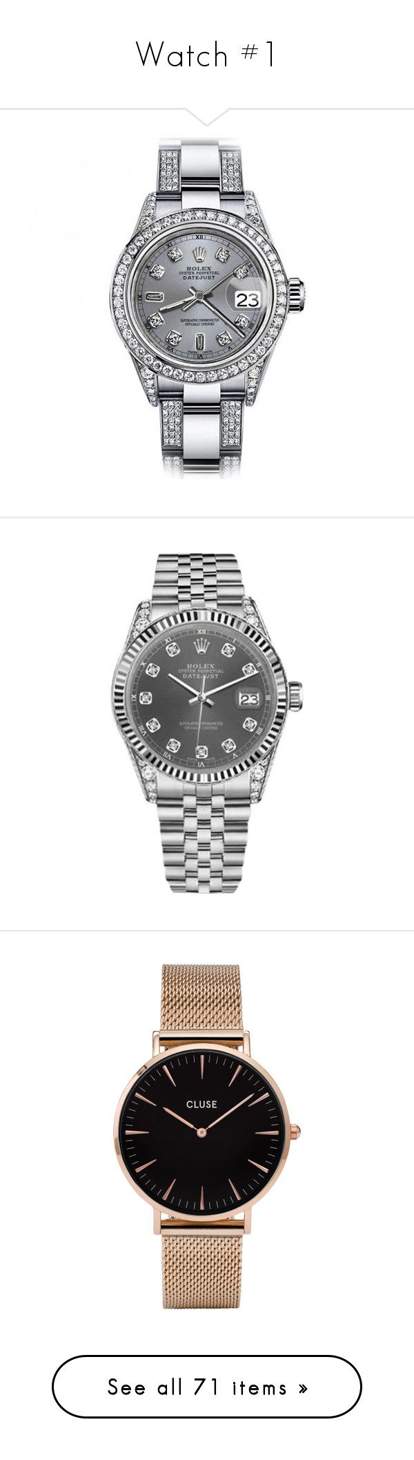 """""""Watch #1"""" by asoc10 ❤ liked on Polyvore featuring jewelry, watches, diamond wrist watch, rolex wrist watch, preowned watches, rolex watches, preowned jewelry, unisex watches, stainless steel wrist watch and stainless steel watches"""
