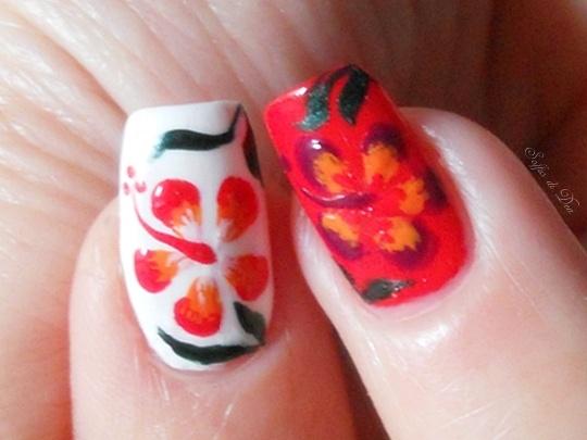 """Hibiscus"" - Nail Art per Pupa Nail Academy con tutorial"