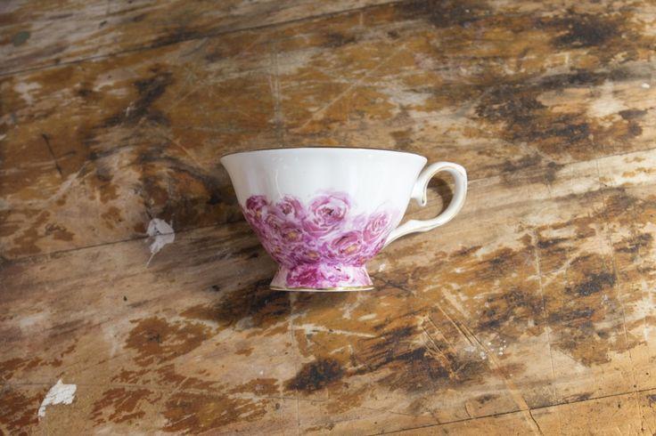 Pink Teacup and Saucer Set