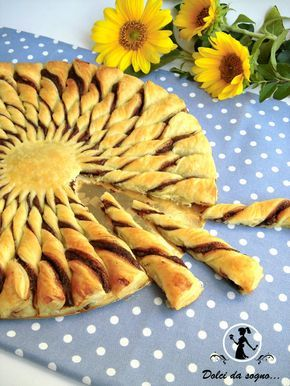 torta girasole di pasta sfoglia e nutella