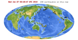 Earthquakes & Plate Tectonics:  Plot Earthquake Data