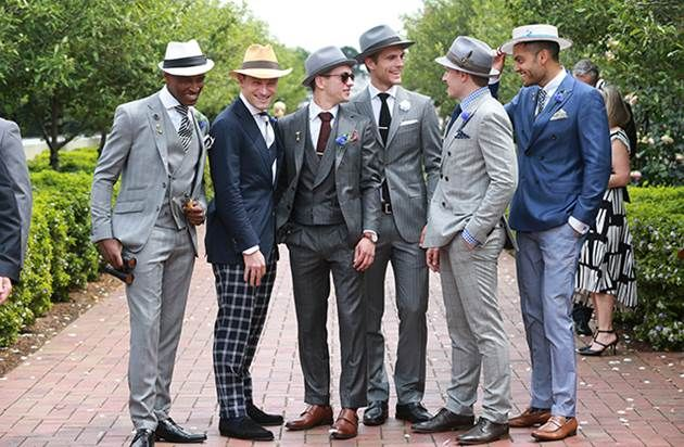 Group of boys on Derby Day