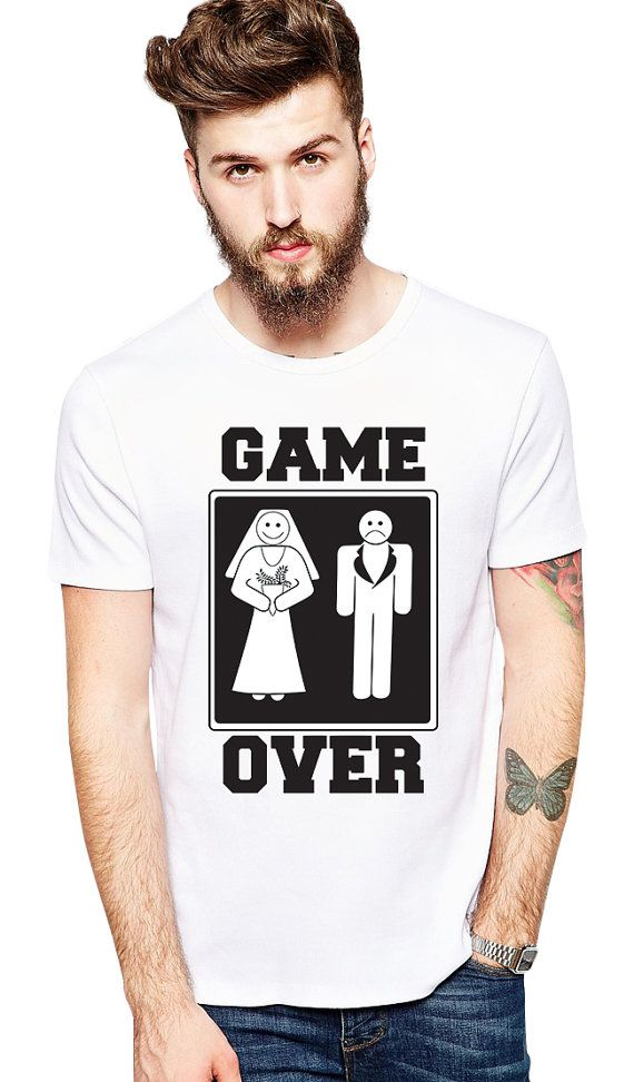 Funny Groom Shirt - Game Over - Couples Shirts - Bachelor Party - Bachelor Gifts For Groom - Funny Wedding Gift From Bride - Bachelor Party by Umbuh