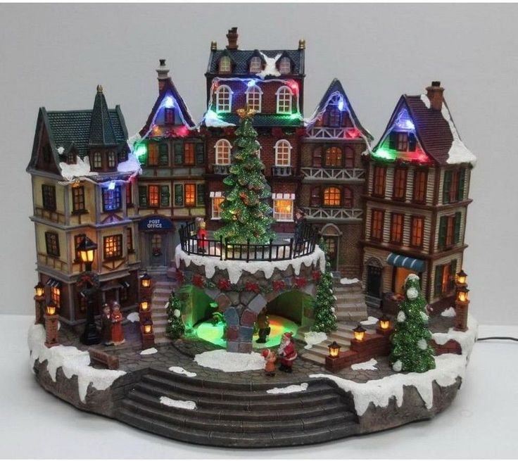 Christmas Village Musical House 31.8 CM Animated Holiday Decoration Tabletop  #HomeAccentsHoliday