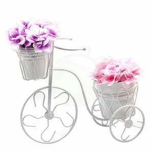 Westinnhouse Ferforje Saksılı Çiçeklik Bisiklet Seti Beyaz