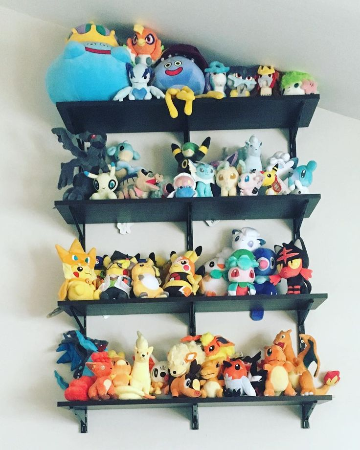 Pokemon Plush display shelves Stuffed animal displays