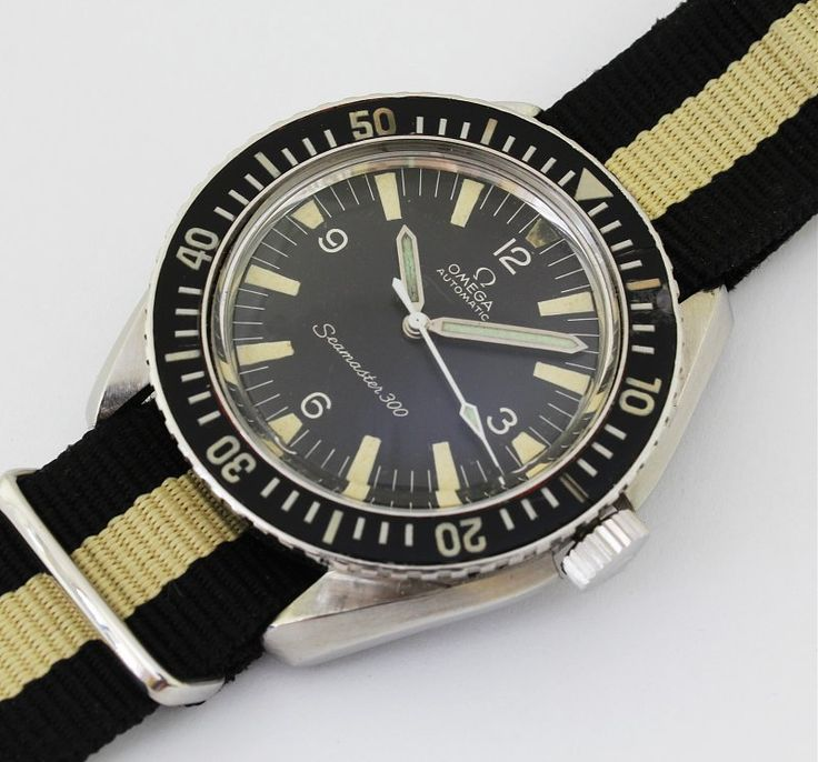 And the NATO matches the aged Tritium lume. AWESOME! Omega Seamaster 300 Ref. Ref. 165024 Automatic Cal. 552 / 1966