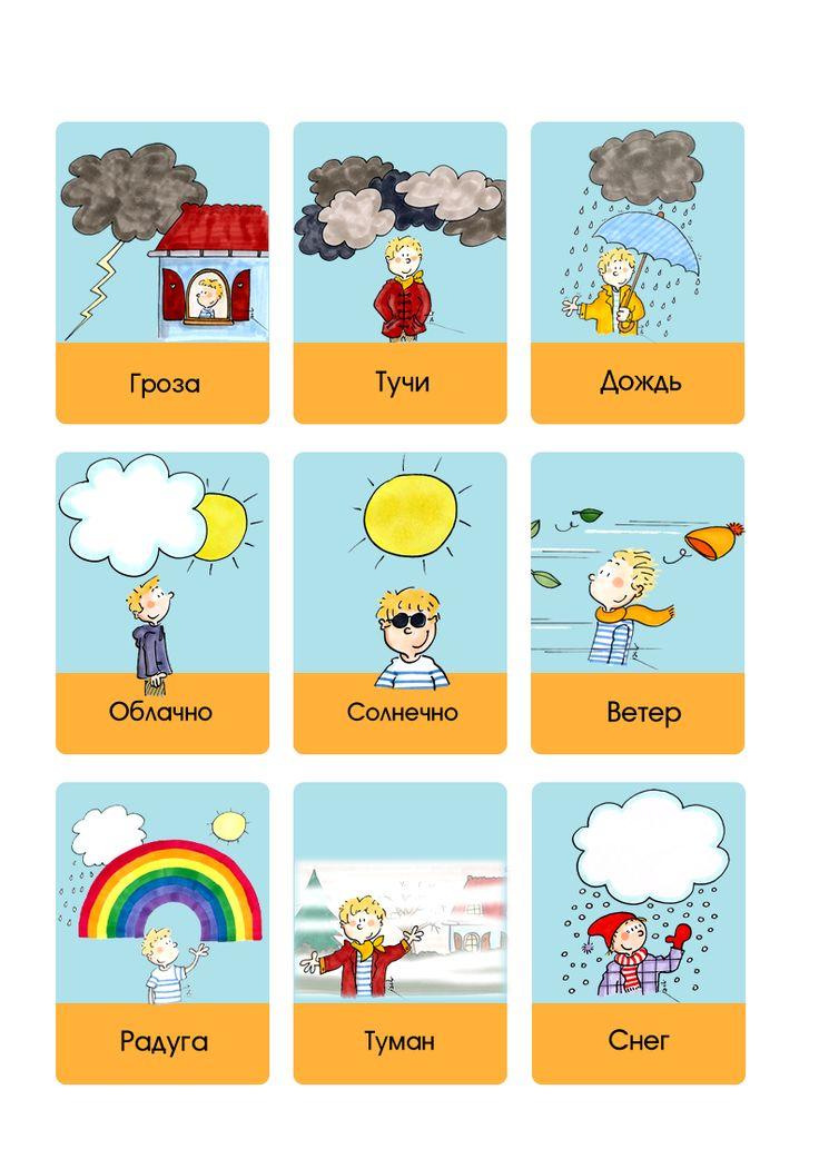 weather flashcards - Карточки погоды