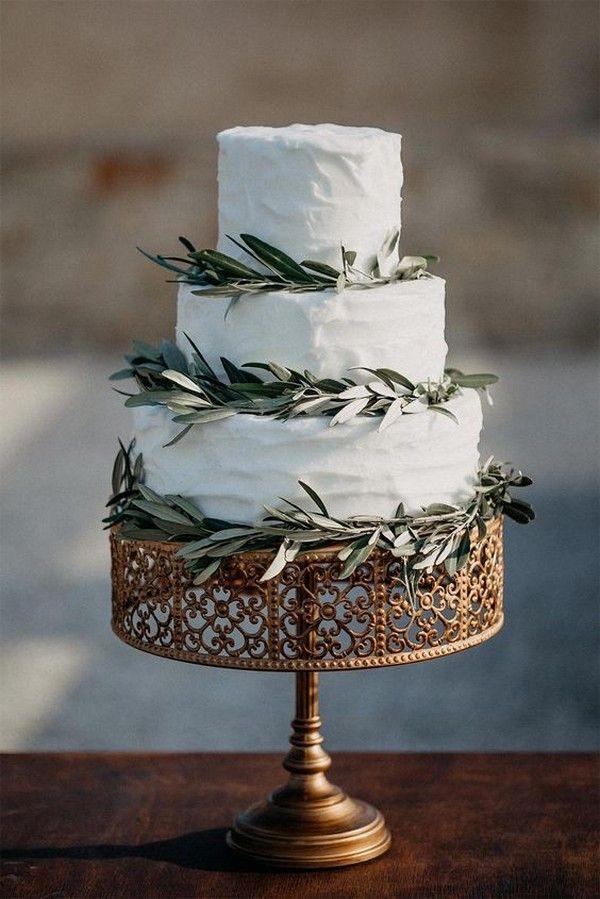 schicke einfache Vintage Hochzeitstorte   – Most Romantic Ways To Propose