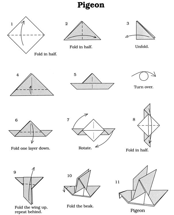 easy origami dove | Tutorial Origami Handmade - photo#15