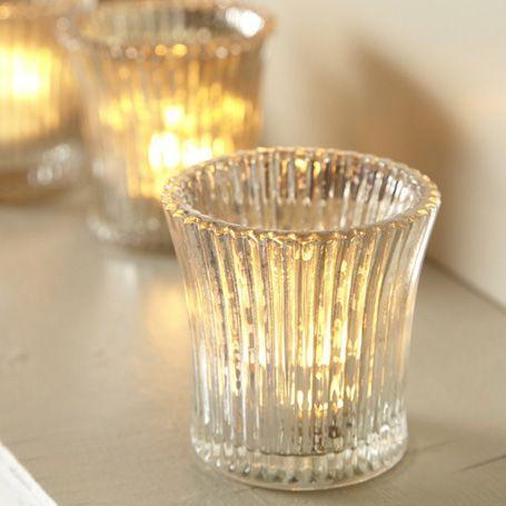 Antique Fluted Glass Tealight Holder