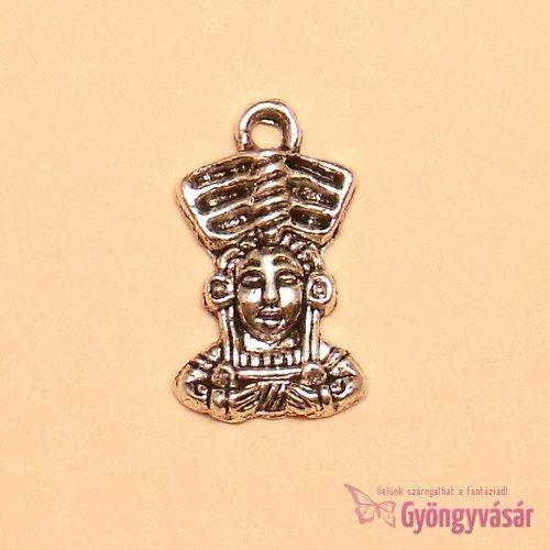 Ezüstszínű kis indián - fém zsuzsu / fityegő