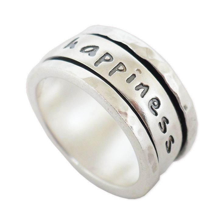 Handcrafted meditation happiness Spinner ring 925 sterling silver size 6 - 9 #Handmade #Spinner