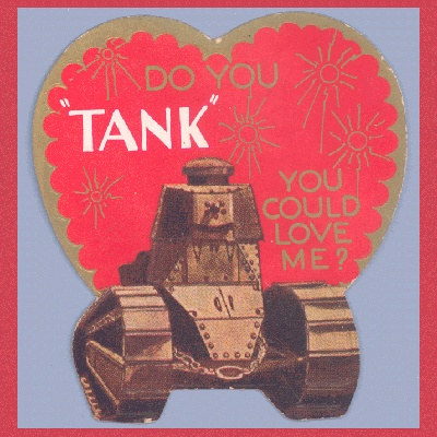 Vintage Valentine Museum: Love is in ORDER - Military Themes
