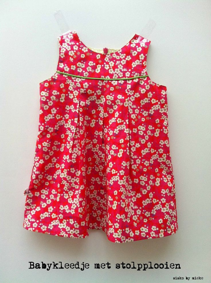 A baby summer dress with free pattern