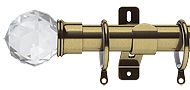 Swish Elements Capella 25mm/28mm Extendable Metal Curtain Pole, Antique Brass