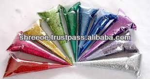 #glitter henna cones, #red henna cone, #glitter paste cones