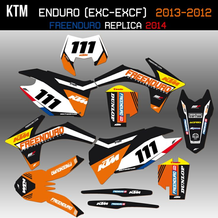 ktm freenduro r 233 plica 2014 graphic kit http www eight racing fr kit deco ktm exc 1407