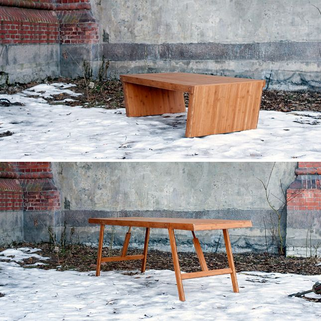 Convertible Bamboo Table | 12 Cool Pieces of Convertible Furniture